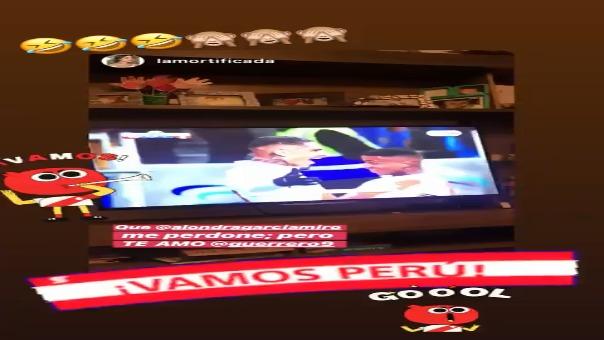 Alondra García celebró el triunfo de la Selección Peruana y su pase a la final de la Copa América.