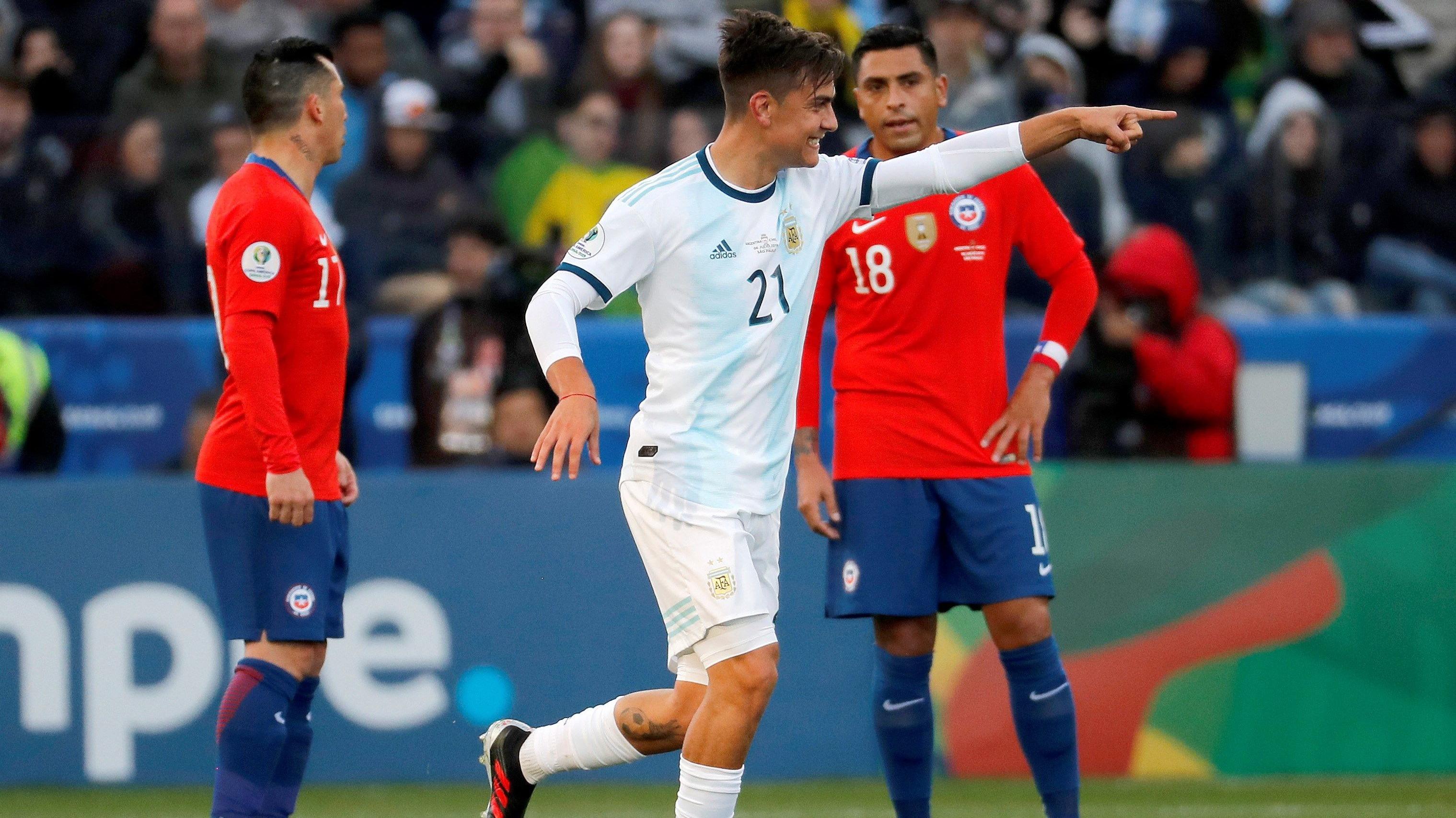 Así fue el gol de Paulo Dybala ante Chile.