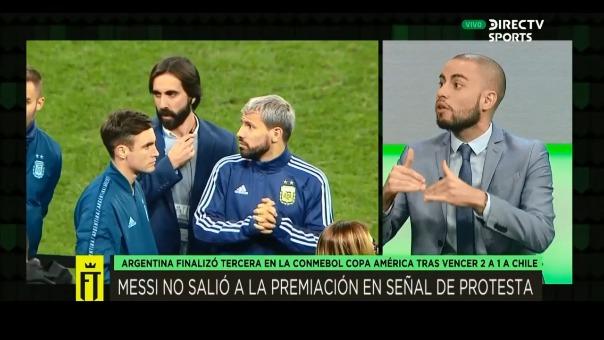 Lionel Messi estuvo ausente en la entrega de medallas de tercer lugar para la Selección Argentina.