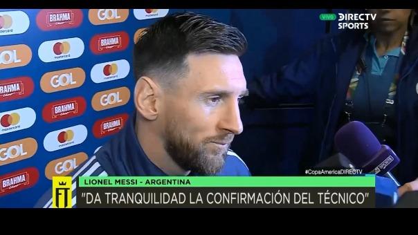 El jugador argentino habló sobre la final de la Copa América 2019.