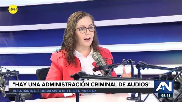 Rosa Bartra señaló que no existe vinculación entre el prófugo César Hinostroza y Keiko Fujimori.