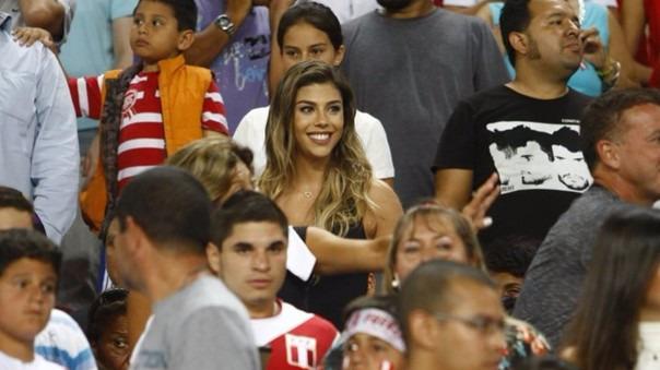 Así celebró Alondra García Miró el gol de Paolo Guerrero en la final de la Copa América.