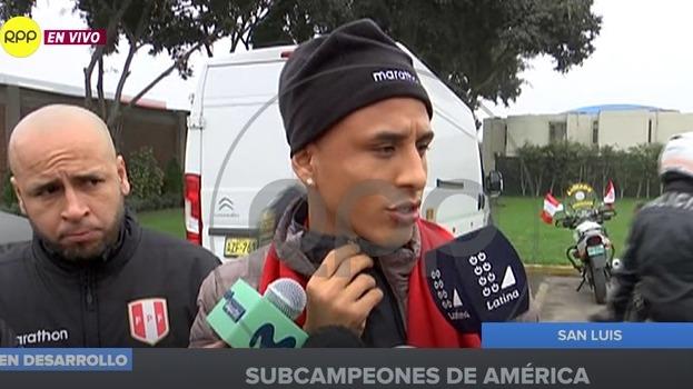 Yoshimar Yotún volante de la Selección Peruana.