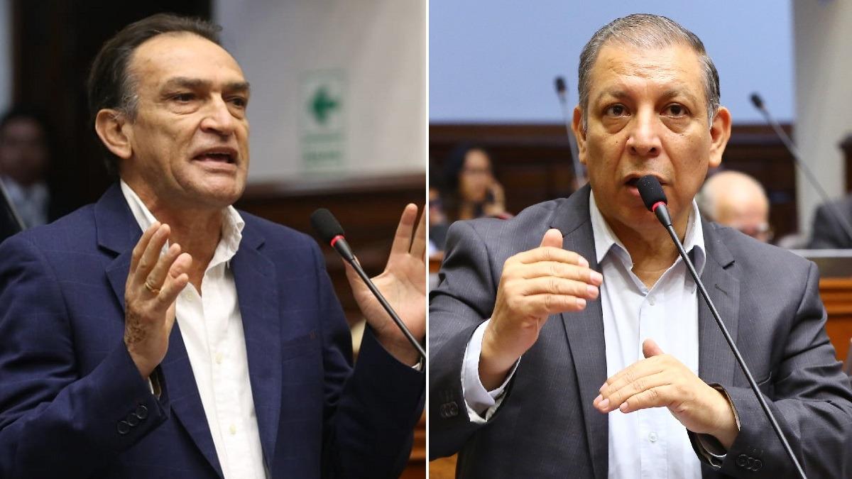 Marco Arana y Héctor Becerril discutieron en la sesión de la Comisión Permanente.