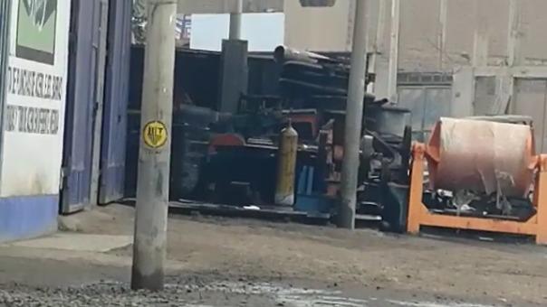 Emergencia ocurrió en la urbanización Santo Dominguito en Trujillo.