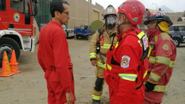 Los bomberos acudieron a la emergencia.