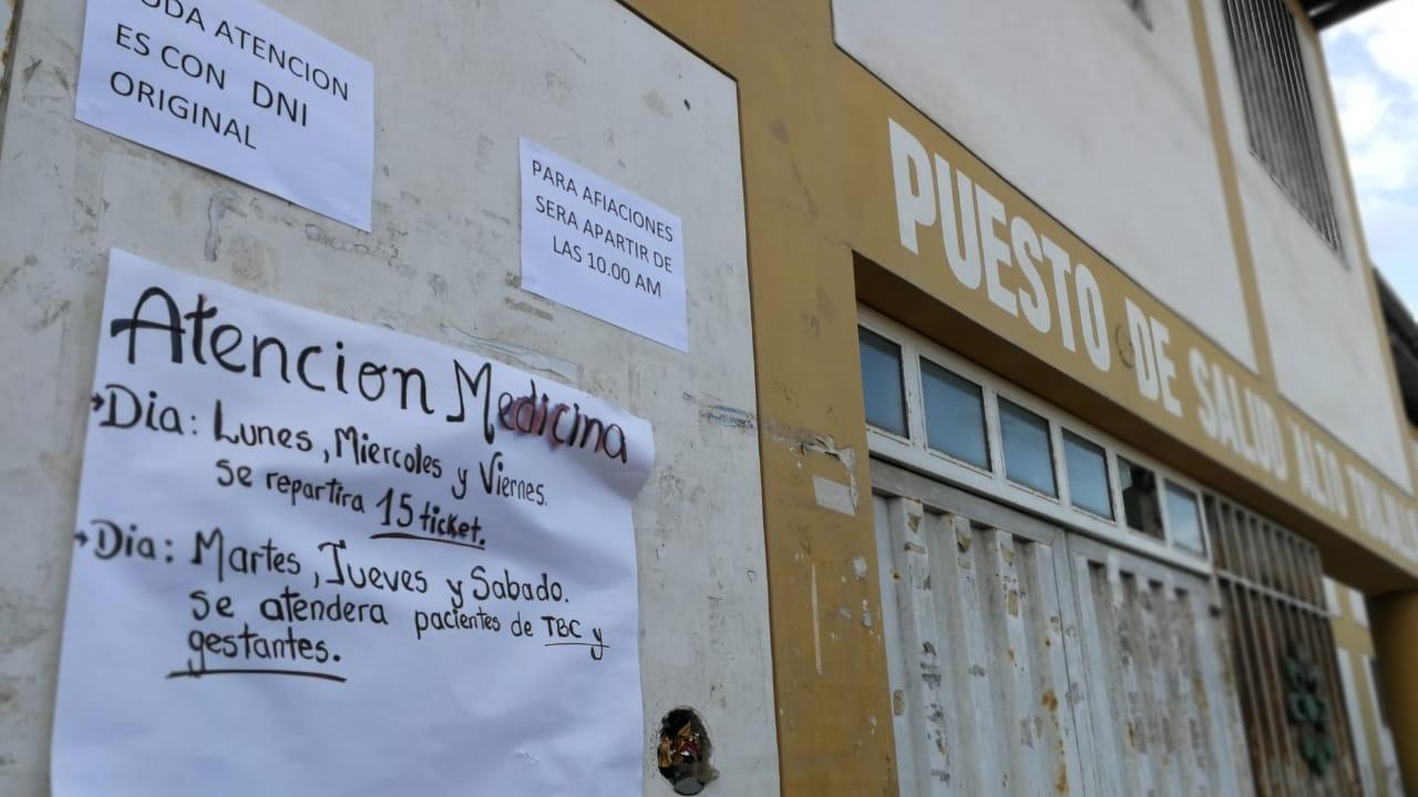 Resultado de imagen para puesto de salud de Alto Trujillo