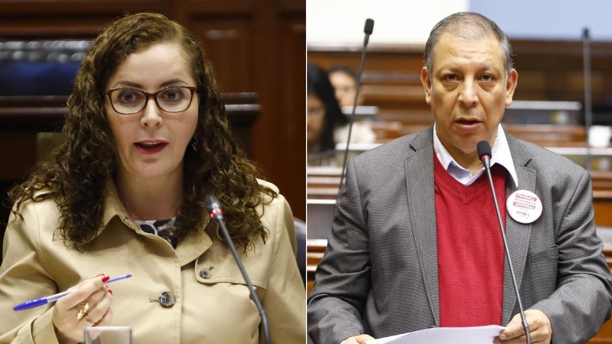 Rosa Bartra, congresista de Fuerza Popular, y Marco Arana, legislador del Frente Amplio.
