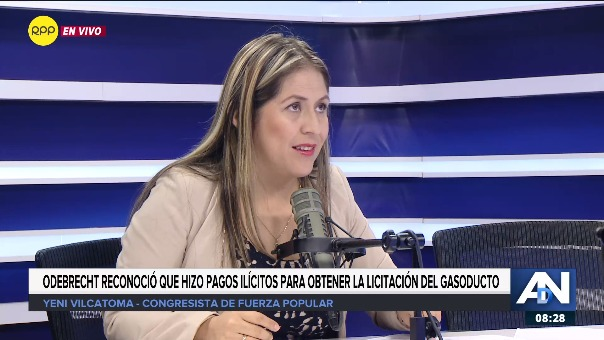 Yeni Vilcatoma, congresista de Fuerza Popular.