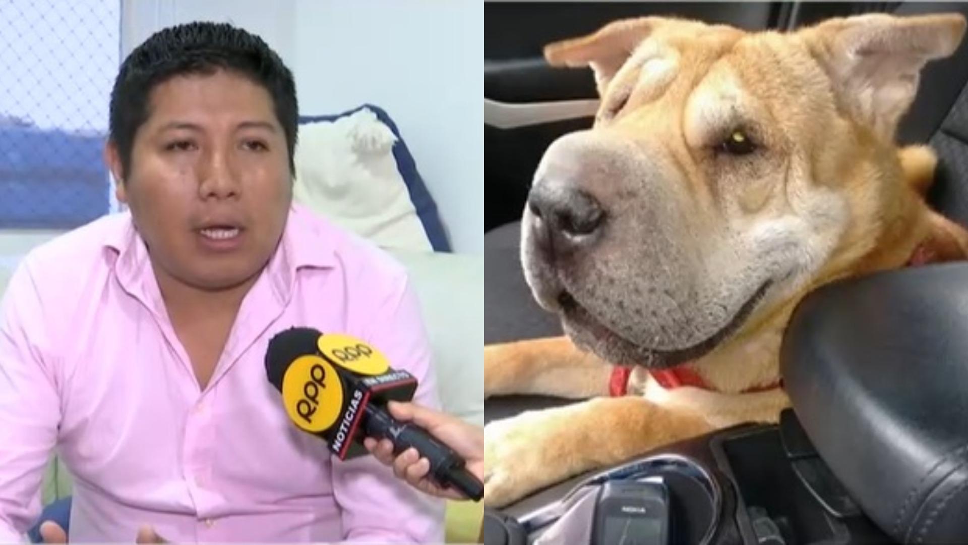 Juan Fernando Ruelas y su mascota Chira