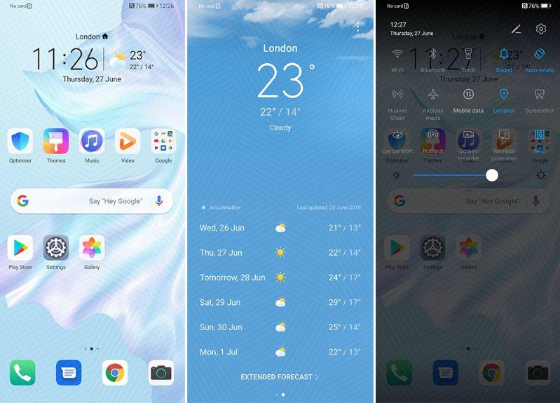Esta es la apariencia de la nueva capa de personalización de Huawei. EMUI 10