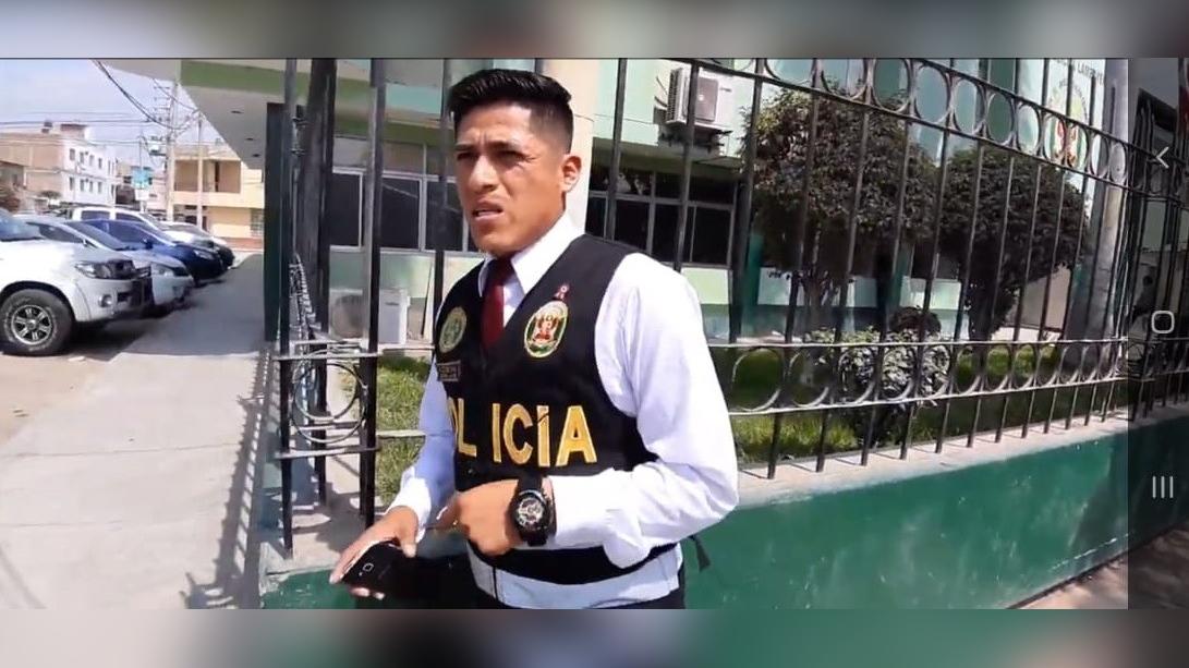 El policía continúa realizando sus labores y espera que se haga justicia.