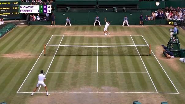 Así fue el punto le dio la victoria a Novak Djokovic.