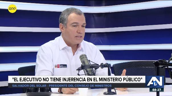 Salvador del Solar, presidente del Consejo de Ministros.