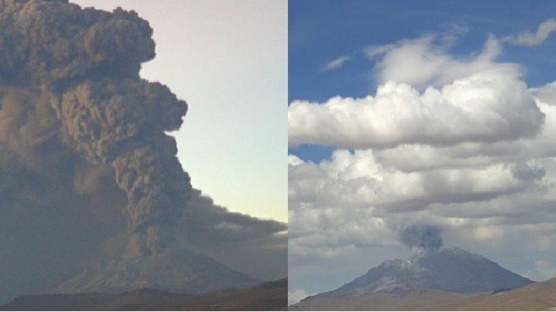 La actividad del volcán Ubinas, en Moquegua, ha aumentado en las últimas horas.
