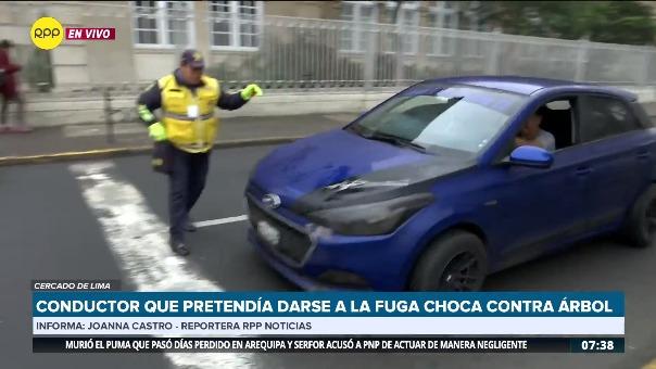 El vehículo pasó a toda velocidad en la avenida Arequipa.