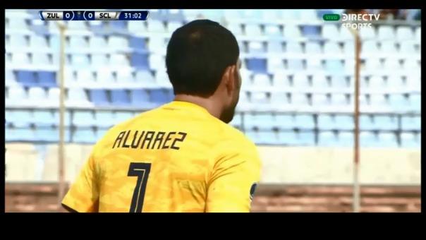 Esta fue la doble atajada que protagonizó Patricio Álvarez en el duelo ante Zulia.