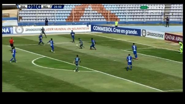 Esta fue la ocasión de gol errada por Cristian Palacios.