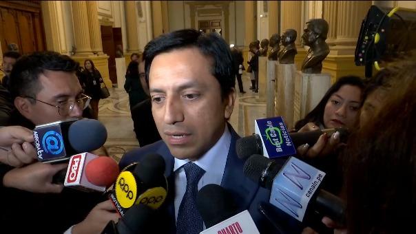 Gilbert Violeta habló con la prensa tras la elección de Olaechea.