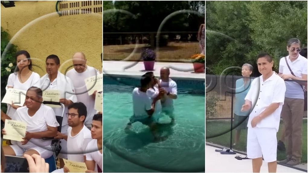César Hinostroza se bautizó l sábado 27 de julio en Madrid.