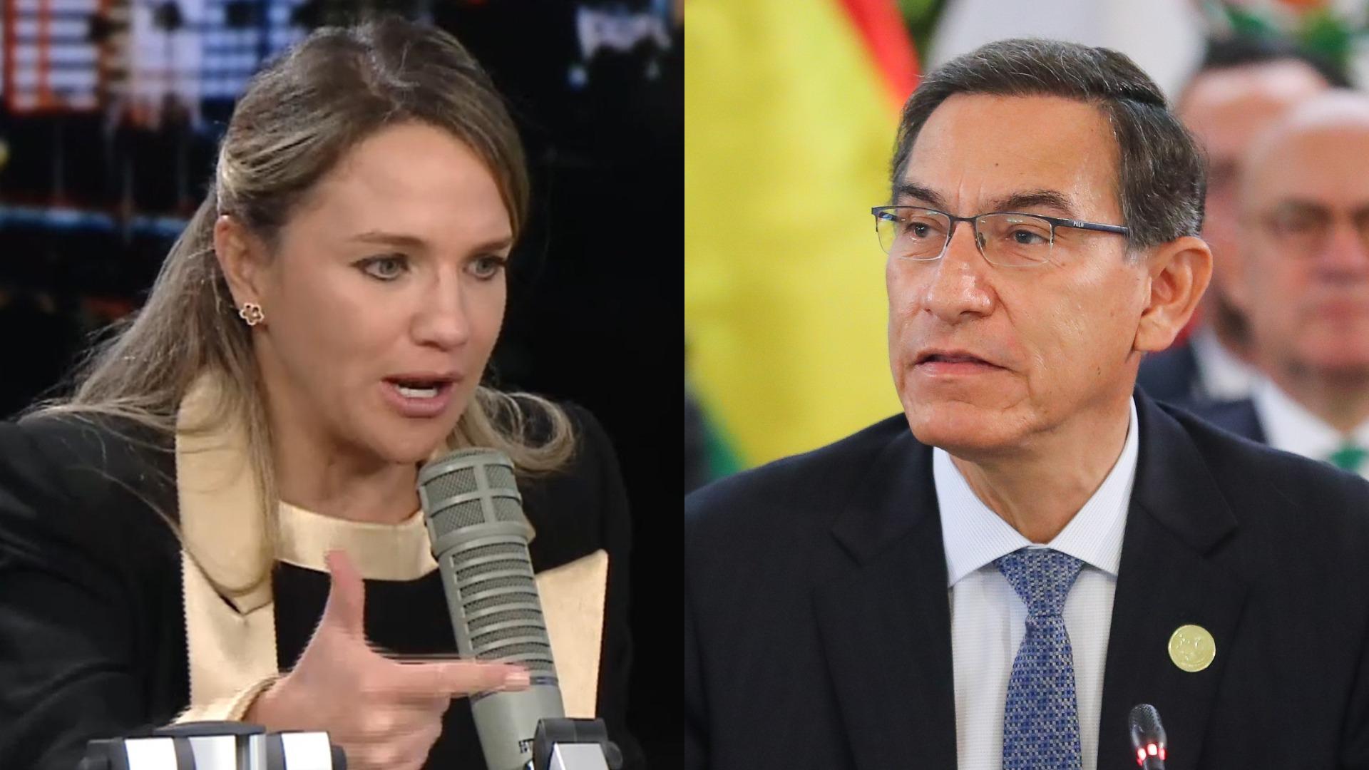 Luciana León arremete contra Martín Vizcarra