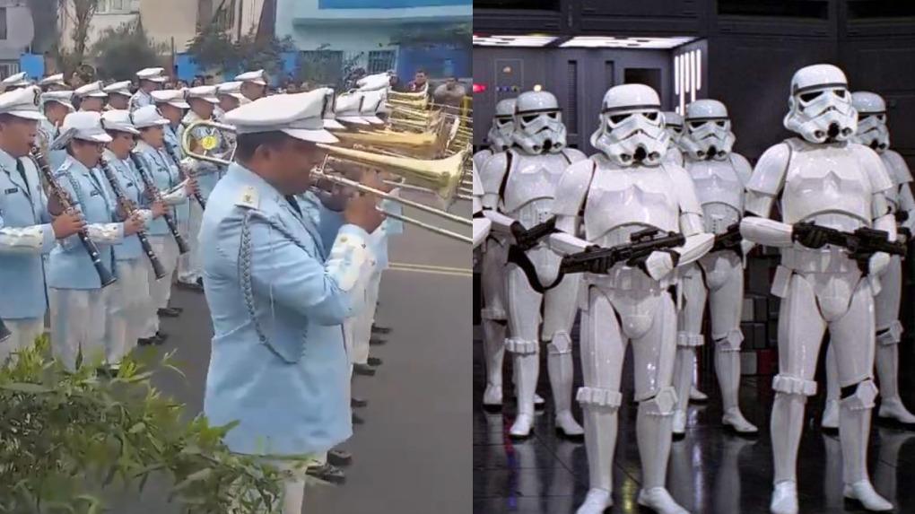 La banda de la FAP tocó la marcha imperial de