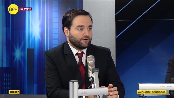 Alberto de Belaunde, congresista de la Bancada Liberal.