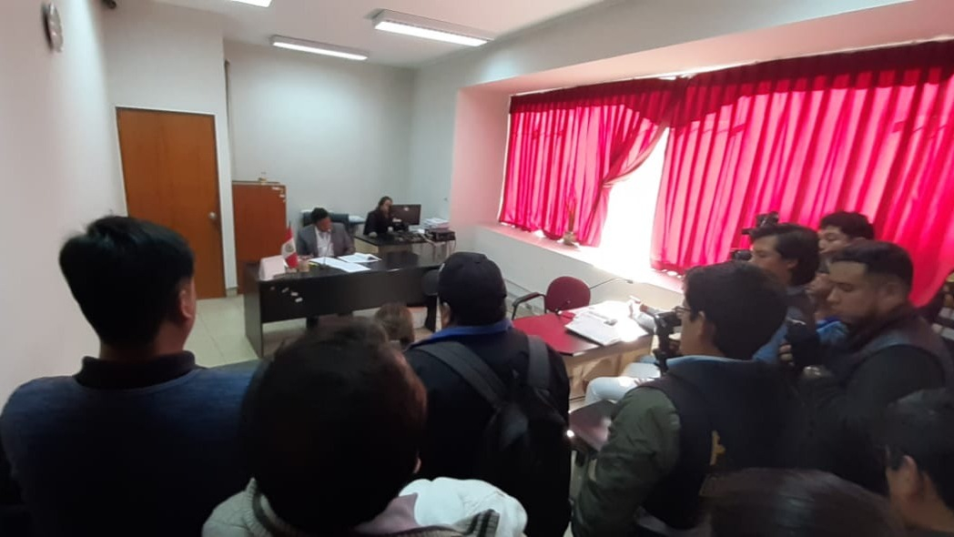 La audiencia se realizó en la sede de la Corte Superior de Justicia de La Libertad con sede en la urbanización Natasha Alta.