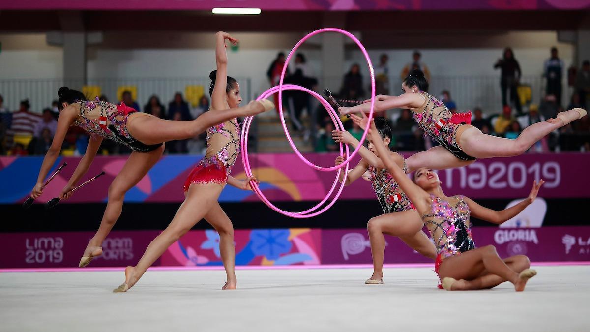 El equipo peruano llegó a la final de gimnasia rítmica de los Juegos Panamericanos