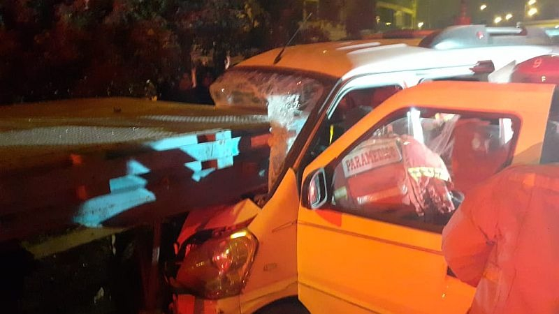 El accidente ocurrió en el cruce de las avenidas Antúnez de Mayolo y Universitaria.
