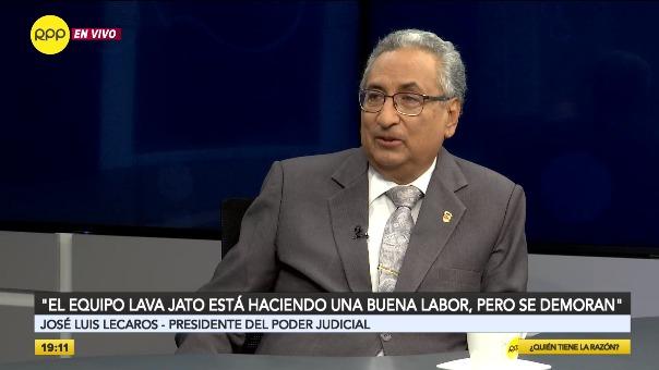 Lecaros dijo que se ha inspeccionado en varias sedes del Poder Judicial del Perú y solo se ha encontrado un red de corrupción en la del Callao.