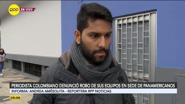Periodista colombiano fue víctima de robo en la Videna.