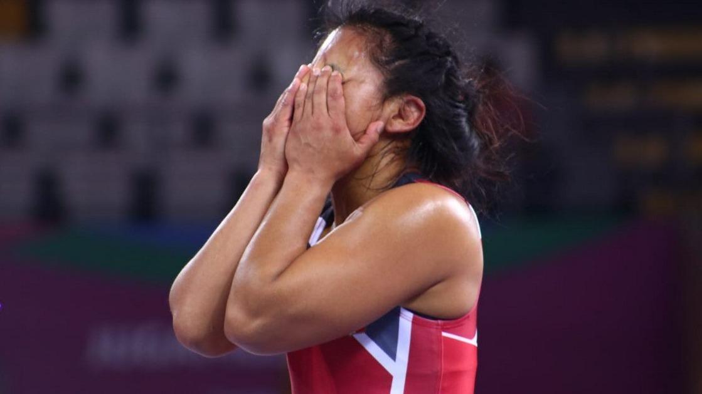Así celebró la peruana tras obtener la medalla de bronce.