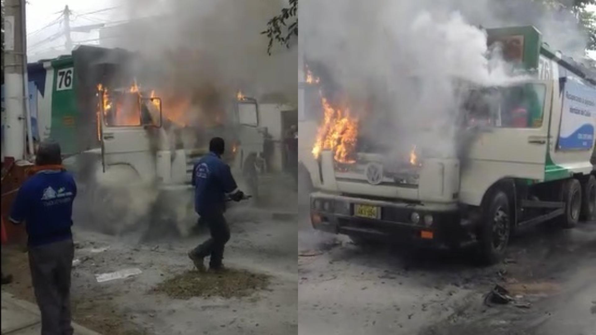 Sujetos atacan vehículo compactador de residuos