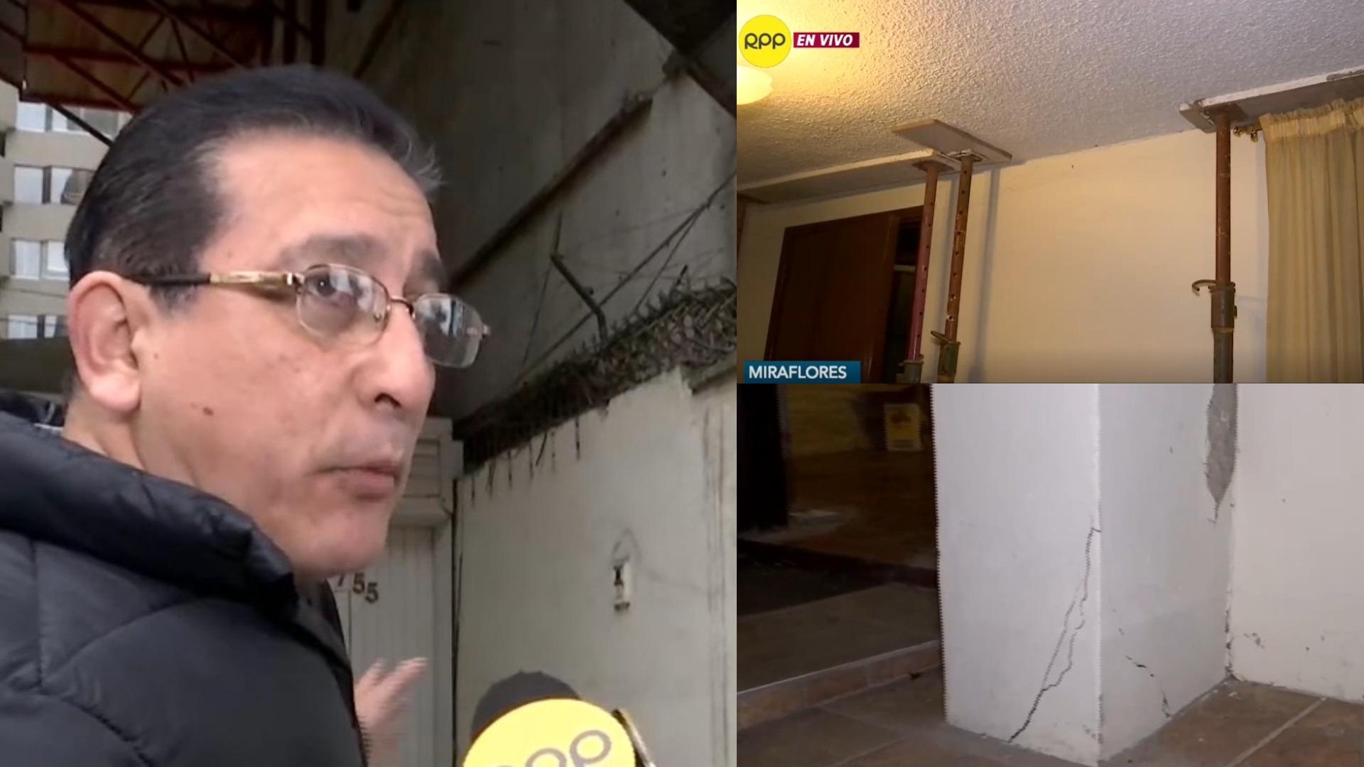 Vivienda en riesgo en Miraflores