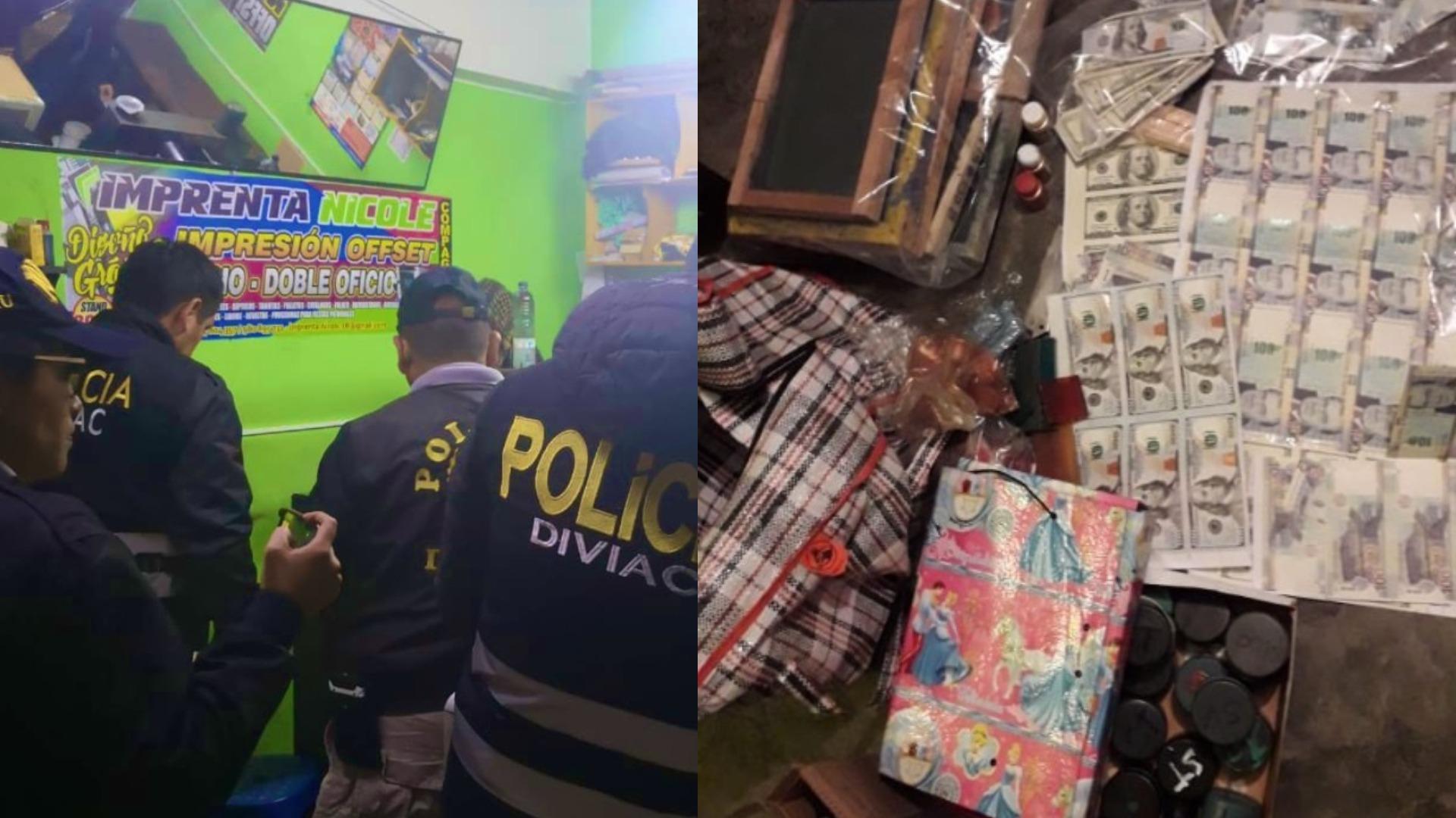 PNP desarticula banda que falsificaba billetes
