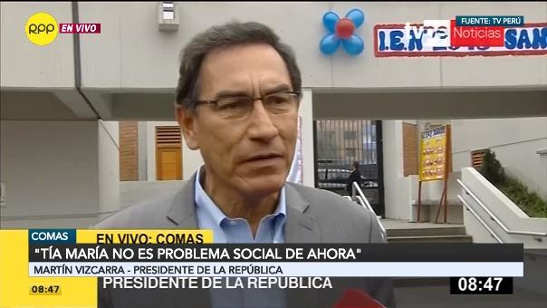 Vizcarra además habló de un eventual pedido de vacancia.