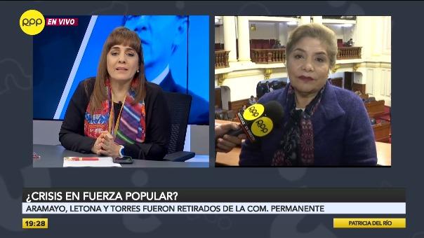 Luz Salgado explicó en RPP, por qué no se incluyó a Letona, Aramayo y Torres en la Comisión Permanente del Congreso.
