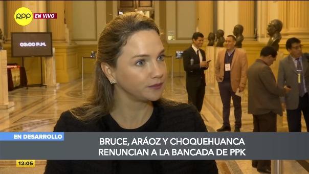 Declaraciones de Luciana León a RPP Noticias.