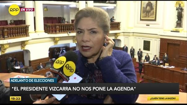 Luz Salgado acusó al presidente Martín Vizcarra de tener un doble discurso sobre el conflicto por el proyecto minero Tía María.
