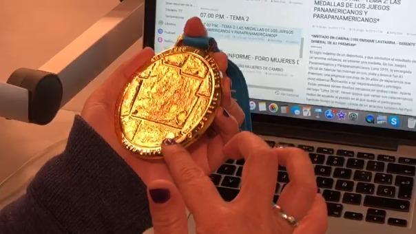 La conductora de Conexión, Fernanda Kanno, describe los detalles de las medallas de los juegos Panamericanos y Parapanamericanos.