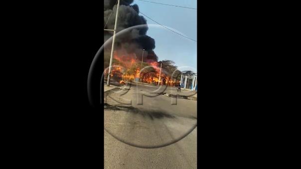 Pobladores incendiaron las oficinas de Confipetrol.