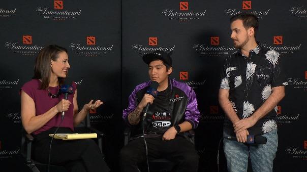 El jugador peruano fue entrevistado luego de la partida de eliminación.