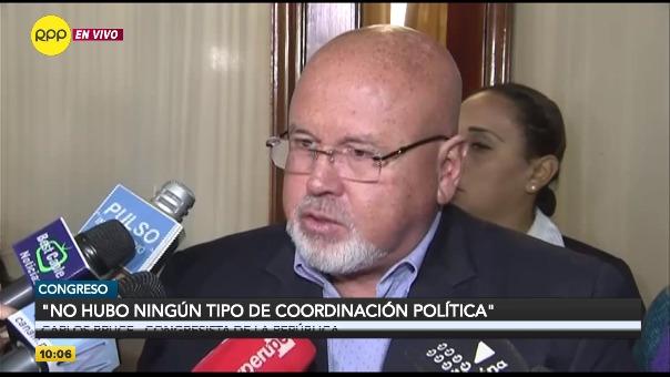 Declaraciones de Carlos Bruce a RPP Noticias