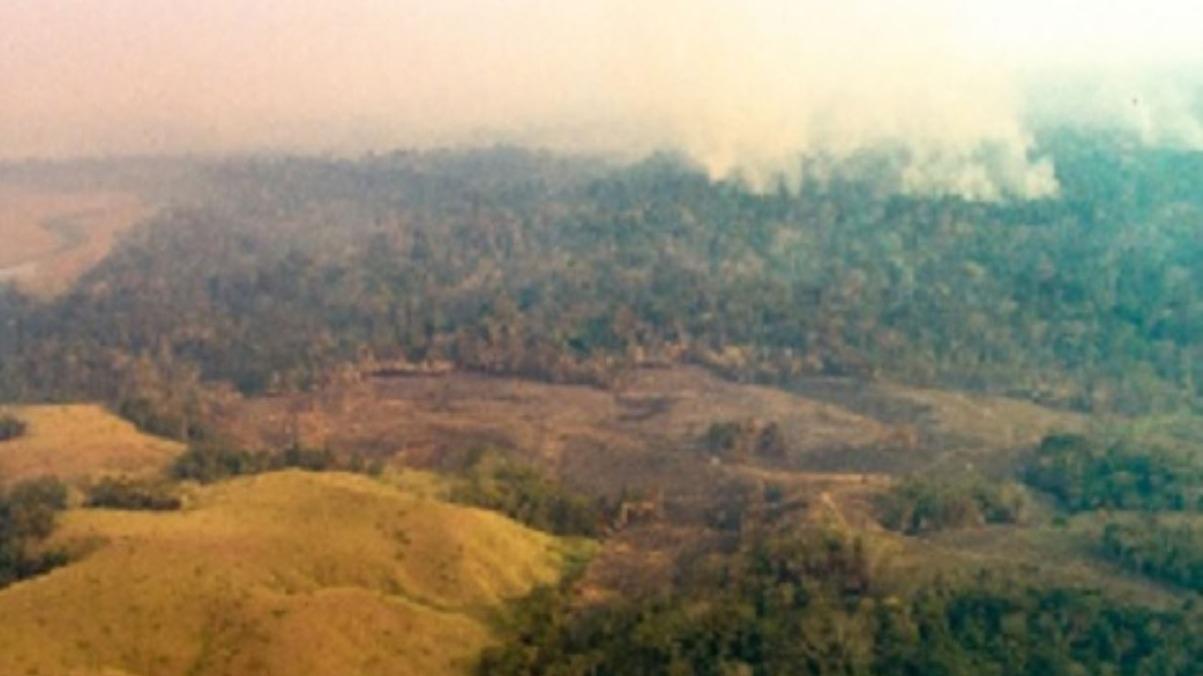 La humareda ha afectado varias localidades.