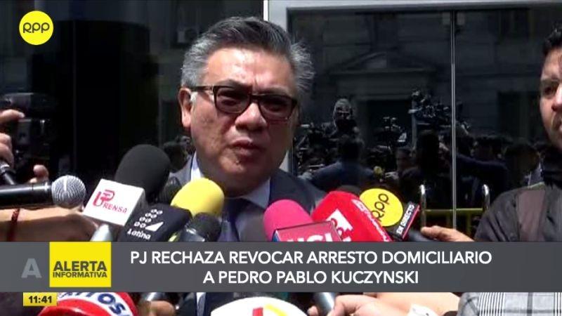 César Nakazaki habló con la prensa tras la audiencia realizada en Palacio de Justicia.