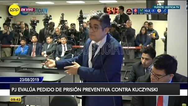 Fiscal José Domingo Pérez sustentó su pedido.