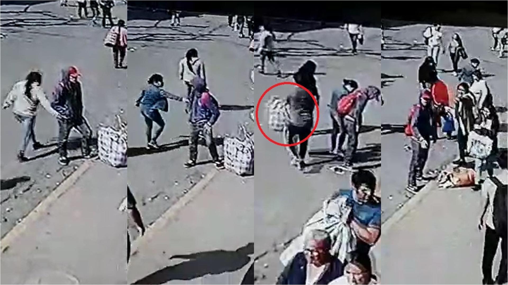 Hasta tres personas participaron en el robo al comerciante.