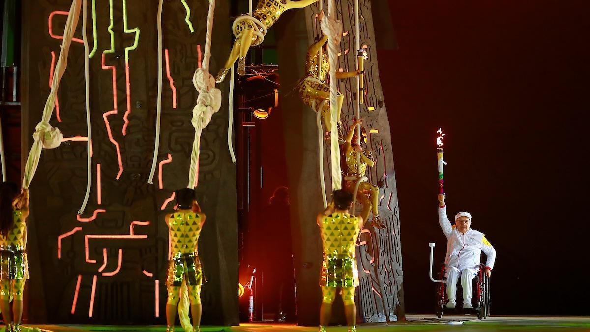Jimmy Eulert prendió el pebetero de los Juegos Parapanamericanos Lima 2019