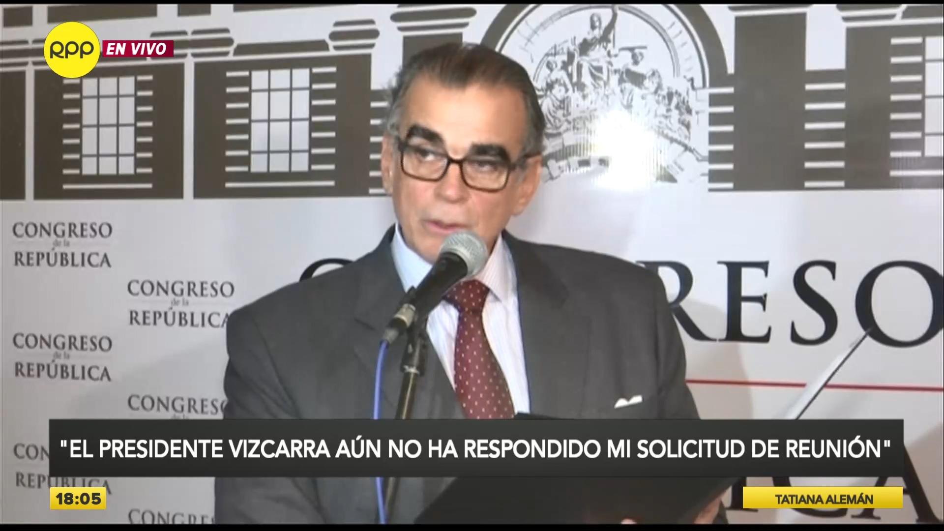 Pedro Olaechea se pronunció desde el Parlamento.